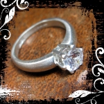 NFS Ring Silver 6mm Solitaire 06 framed