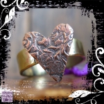 Ring Copper Heart Brass Shank 01