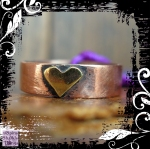 Ring Copper Shank Brass Heart 01