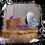 Ring Silver Button Paisley Copper Shank 01