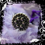 Ring Silver Copper  Vintage Button Knobbly 01